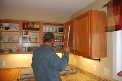remove old doors drawer fronts and moldings then prepare your cabinets for new refacing material - Kitchen Cabinet Refacing Materials