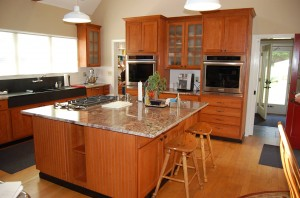 kitchen after refacing